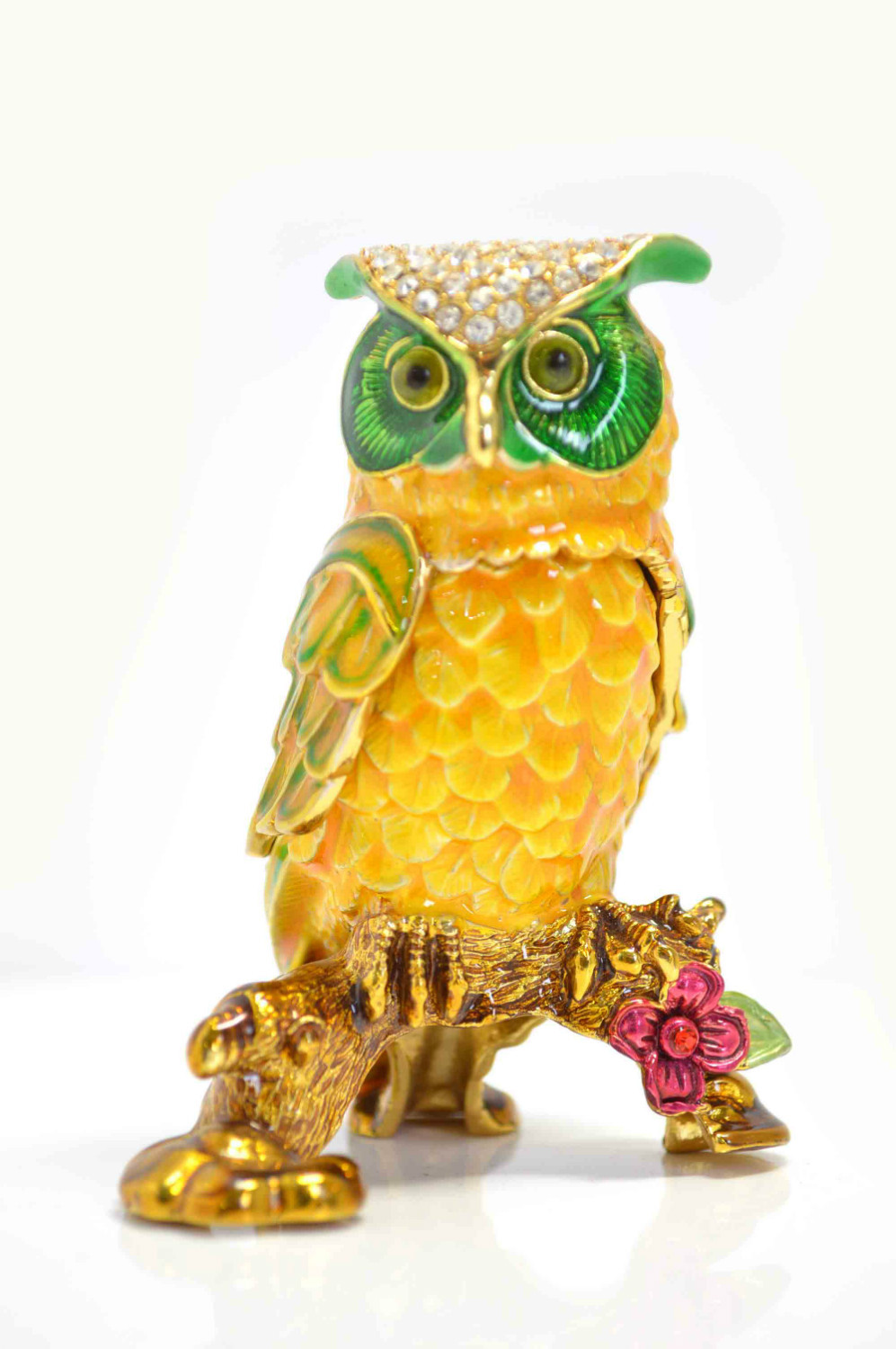 QIFU Fashion Gold Metal Owl Decor,European Style Handicraft ,Wedding Decorations,Animal Handicrafts