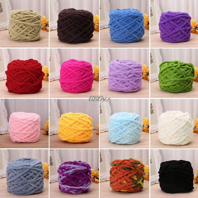 100g/pc Cotton Colorful Dye Scarf Hand-knitted Yarn For Hand knitting  9-14mm Needles Scarf Soft Milk Cotton Yarn Thick Wool Yarn