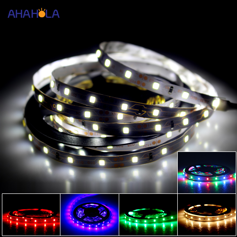 Led Strip 12v 3528 White 5m Led Ribbon Diode Tape  Led Light Strip Warm White Red Blue Rgb 12 V Ledstrip