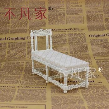 Dollhouse 1/12 Scale Fine Miniature furniture white classical deck chair 1 12 scale fine dollhouse miniature furniture white cabinet