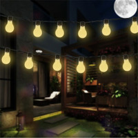 3.5m 10 led Solar Lamps LED globe ball String light solar fairy light garland for Christmas garden party decoration Waterproof