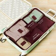 ZYJ дорожные упаковочные кубики сумки для хранения 6 комплектов для мужчин и женщин водонепроницаемый вещевой мешок грязная ткань нижнее белье подвесная сумка-Органайзер сумка 6 шт