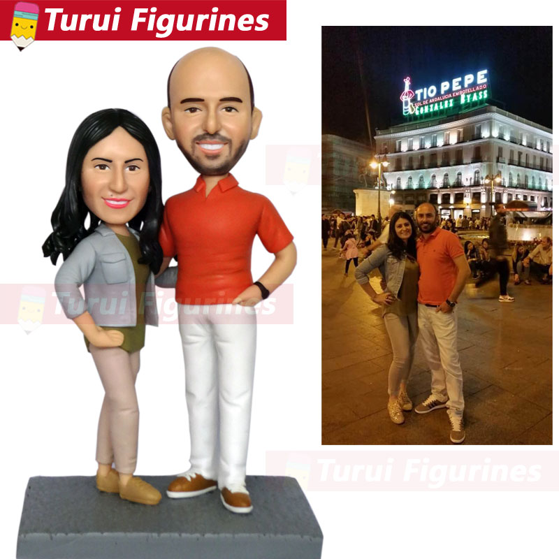 custom sculptures copy from photo head statue statuette from pictures husband and wife figurine from photos personalized design
