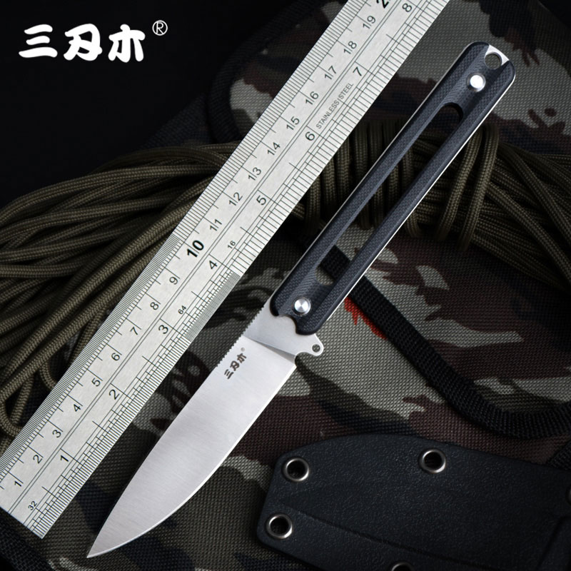 цена на Sanrenmu S731 Fixed Knife 8cr13mov Blade G10 Handle outdoor camping survival tactical hunting bushcraft knife Utility K Sheath