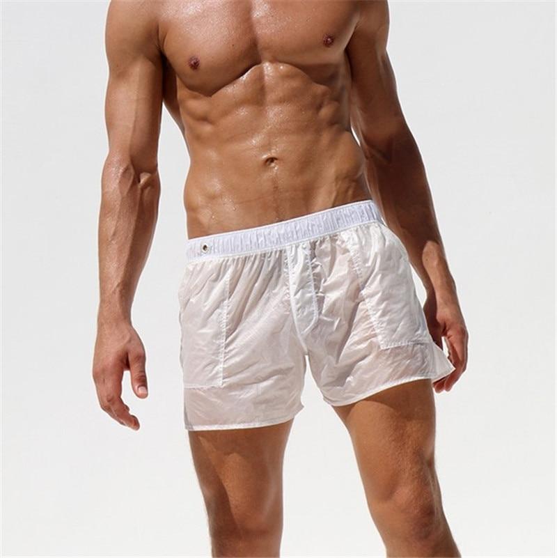 New Swimwear Men Sexy swimming trunks sunga Transpare swimsuit man swim briefs Beach Shorts mayo de praia homens maillot de bain