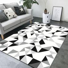 3D  geometric printed carpet modern coffee table bedroom living room footpad non-slip model Decoration