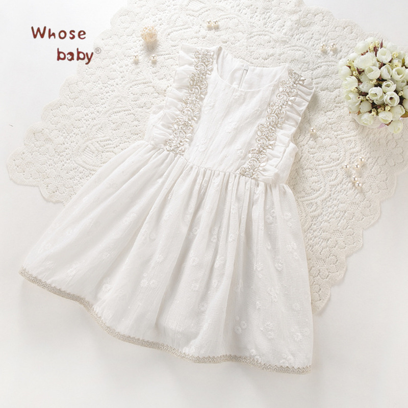 Dress For Girl Summer 2018 Kids Wedding Dresses Party Toddler Girls Clothing Party Graduation Gowns Children Costume Baby Clothe simyke girls summer dresses 2017 new toddler girl daisy appliques dress kids clothing dress for baby girl children clothes w8186