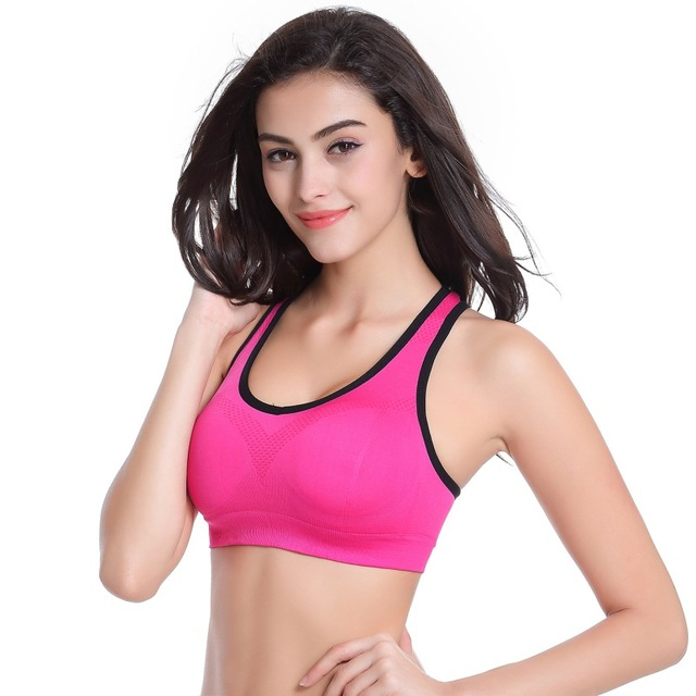 72e3a4f97b486 2018 New Women Summer Autumn Seamless Bra Sports Bra Push Up Padded Running  Bra Thin Tank