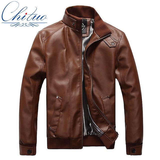 Autumn new goods men's casual leather jacket Jaqueta COURO Masculina size L-5XL sheepskin coat jacket motorcycle jacket