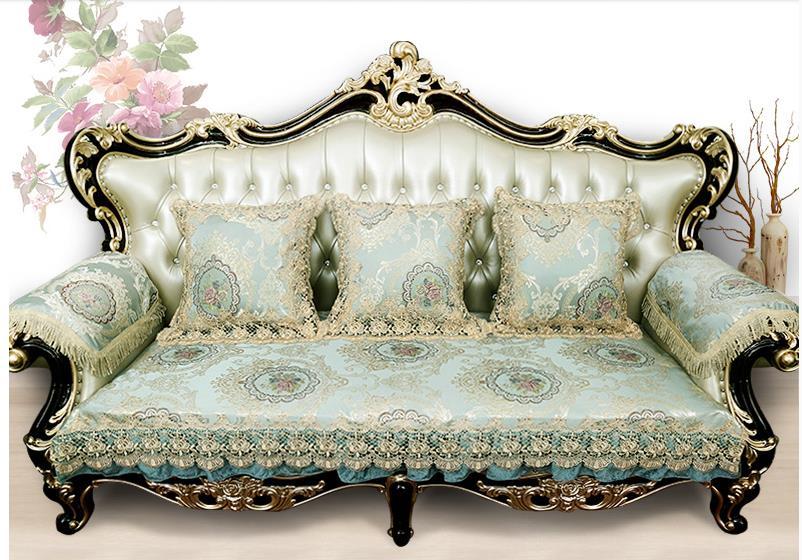 European style sofa towel seasons non slip fabric general living room luxury lace sofa towel sofa cover customized accept