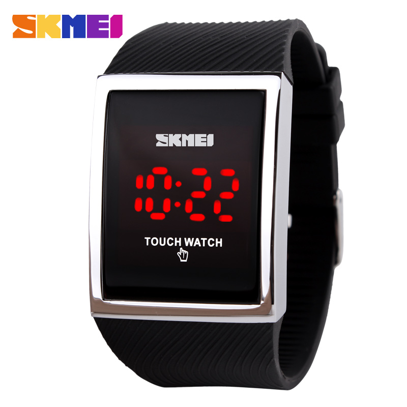Fashion Men Women Electronic LED Touch Candy Jelly Watch Silicone Sports Digital Watch 2017 New
