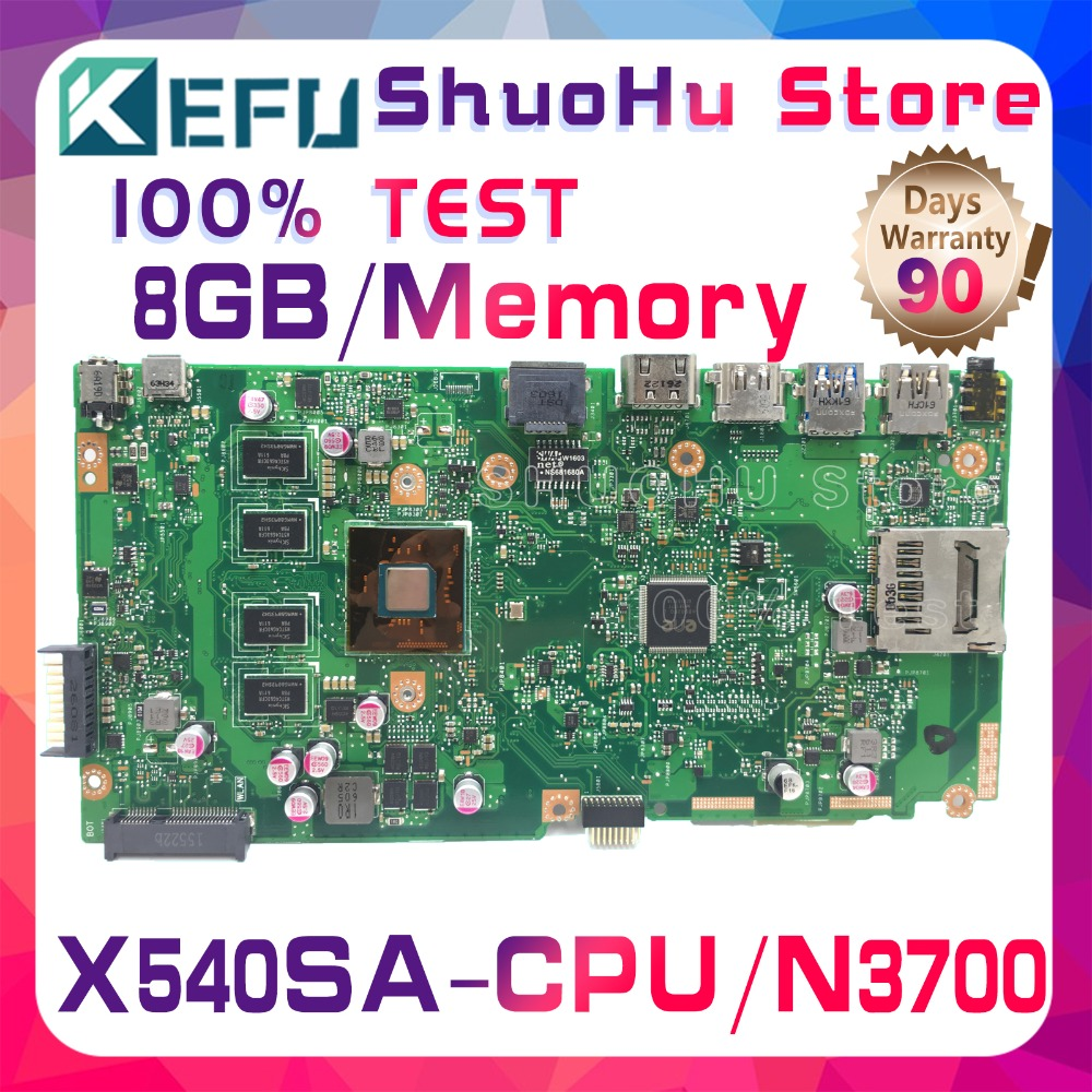 SHELI F540S For ASUS VivoBook X540SA X540S CPU N3700 Memory 8GB laptop motherboard tested 100% work original mainboard asus vivobook x540sa chocolate black x540sa xx012d