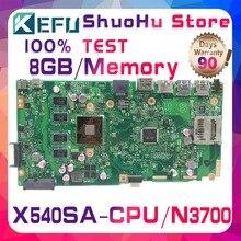 Шели F540S для ASUS VivoBook X540SA X540S Процессор N3700 памяти 8 ГБ материнская плата для ноутбука протестированы 100% работу Оригинал материнская плата