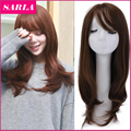 1PC Women Medium Wigs With Side Bang High Temperature Fiber Korean Full Head Kinky Curly U Part Cosplay Wig Send Wig Cap T-MW031