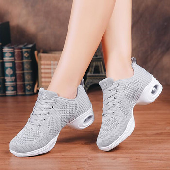 modern dance sneakers for women ladies soft bottom square heel jazz dancing boots middle heels 4cm autumn winter fitness shoes New Brand Design Dancing Shoes For Women Jazz Sneaker New Dance Sneakers For Women Modern Street Dance Shoes Ladies Trainers