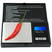 New portable digital display 1000g 1kg 0.1g kitchen jewelry scale electronic balance weight weighing 10%off(China)