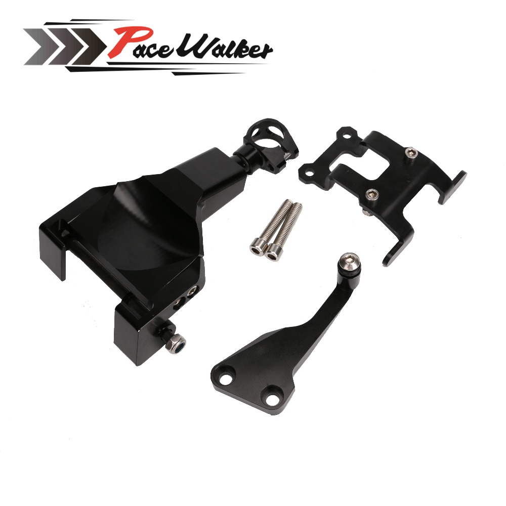 FREE SHIPPING MT07 FZ07 Steering Damper Mounting Bracket Kit for YAMAHA MT-07 FZ-07 2014 2015 2016 2017 FZ 07 MT 07 for yamaha mt 07 mt 07 fz07 mt07 2014 2015 2016 accessories coolant recovery tank shielding cover high quality cnc aluminum