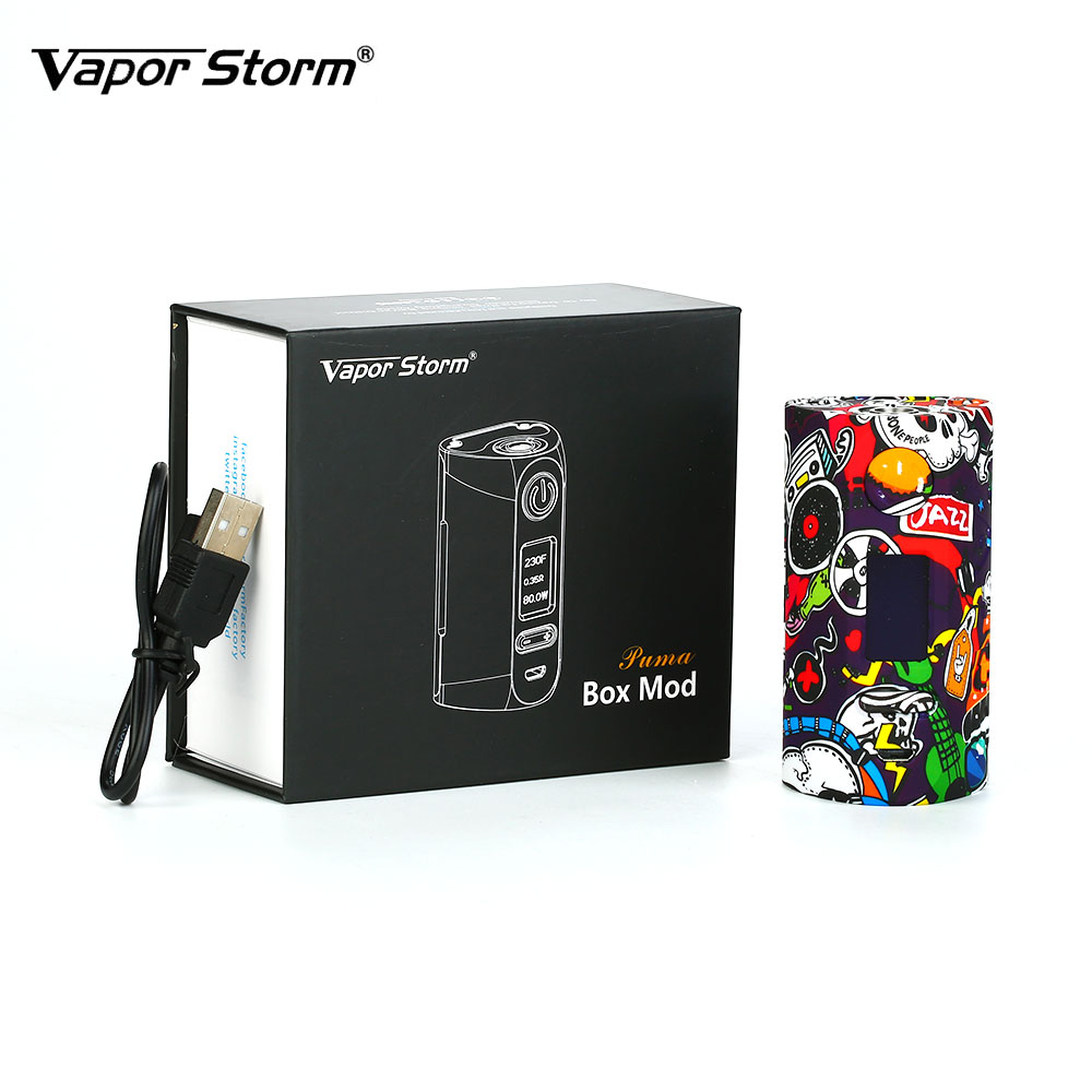 New 200W Powerful Vapor Storm Storm230 TC Box MOD with 0.96-inch OLED Display & Scratch-proof Design No 18650 Battery Box Mod new 90w vapor storm eco kit w 2ml vapor storm tank powered by 18650 battery max 90w output vape box mod vs vapor storm storm230