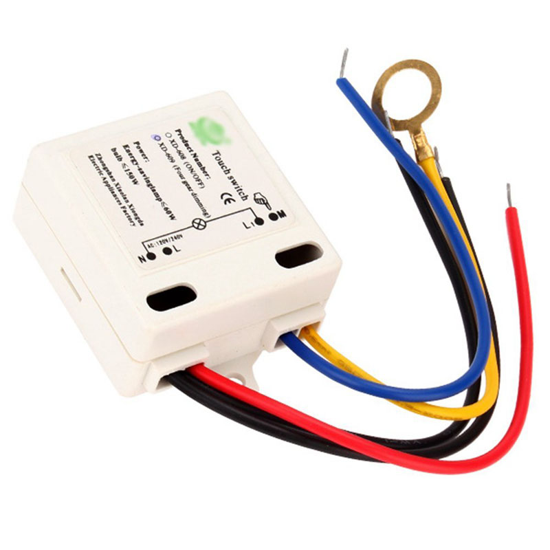 High Quality Electrical Equipment Accessories XD-609 4 Mode On/Off Touch Switch Sensor For 220V Incandescent lamp AA 5pcs lot high quality 2 pin snap in on off position snap boat button switch 12v 110v 250v t1405 p0 5