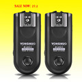 YONGNUO RF-603 II Flash Trigger 2 Transceivers Set Shutter Release for Canon Nikon Pentax DSLR Camera RF-603 II C1 C3 N1 N3