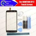HOMTOM HT17 Tela de Toque Digitador Garantia 100% Original Digitador Da Tela de Toque Do Painel de Vidro Para HT17 + ferramentas + Adesivo