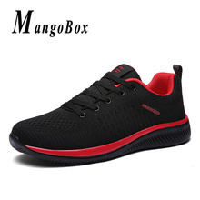 Men Casual Shoes Spring Summer Breathable Walking Shoes Men Black Red Fashion Sneakers Comfortable Male Shoes Cheap
