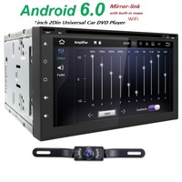 7 Android 5 1 Quad Core 1 6GHz ROM 16G Screen 2 DIN Car DVD GPS