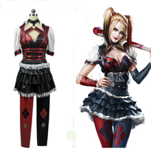 Batman Harley Quinn Dresses Cosplay Costumes Halloween Carnival Party Dress Suit for Women Girls