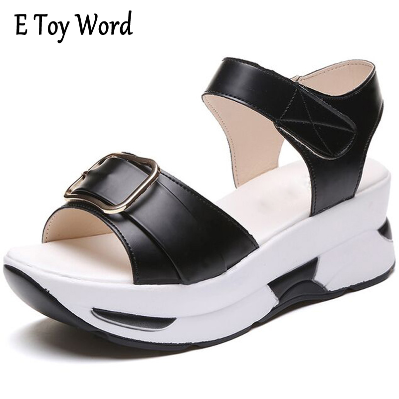 Platform Sandals Summer Shoes Woman Soft Leather Casual Open Toe Gladiator Shoes Women Shoes Women Wedges Sandals R25 2017 gladiator summer shoes woman platform sandals women flats soft leather casual open toe wedges sandals women shoes r18
