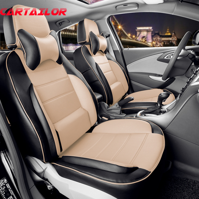 CARTAILOR Artificial Leather Car Seat Cover Set For Infiniti Qx50 Accessories Cars Protection Grey