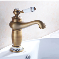 Bath Basin Faucet Antique European Style Brass Brush Basin Faucet 1 4 Inch Hot And Cold