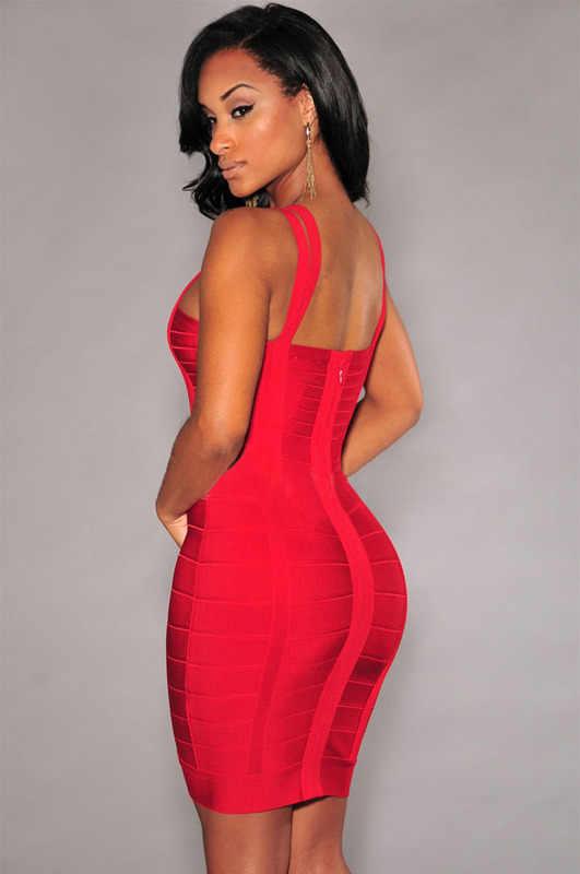 Herve Leger Babe новые летние красные мини Для женщин Бандажное платье бретельках Мода Коктейль ночь Вечерние платья без рукавов