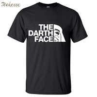 Star Wars The Darth Face Vader Men T Shirt 2018 Summer Hot Sale Fitness Men T Shirts 100% Cotton Round Neck Short Sleeve T-Shirt