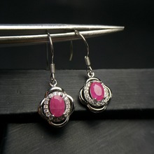 natural ruby gemstone simple & classic design earring in 925 sterling silver gemstone jewelry for girls & lady with gift box tbj natural ruby gemstone simple