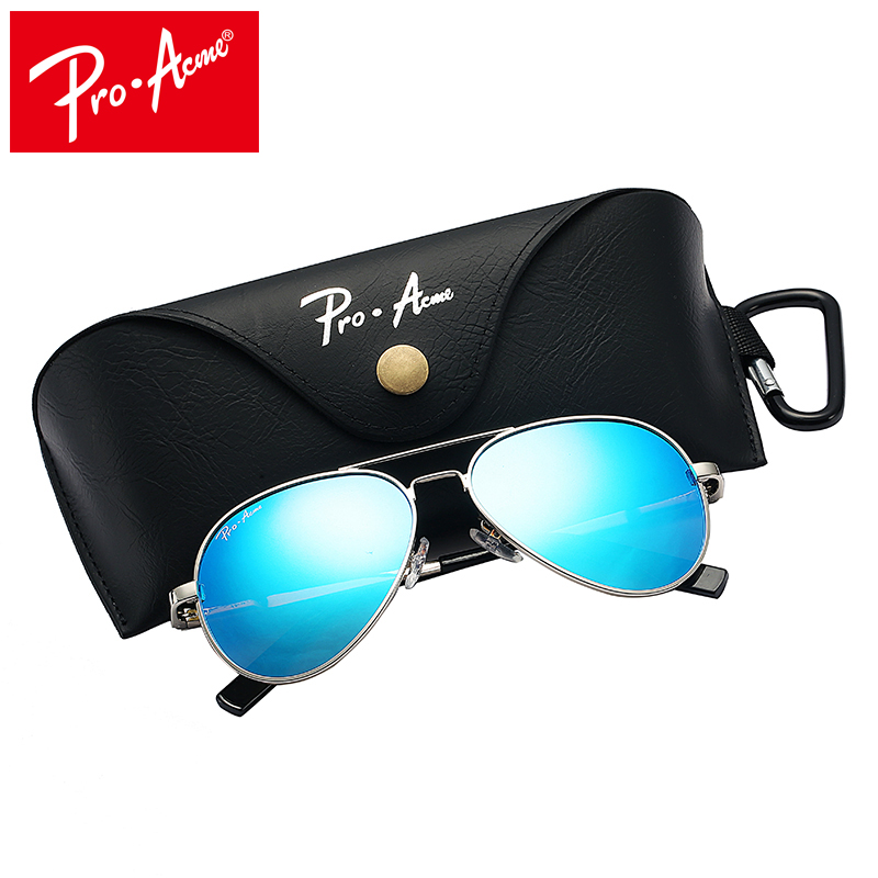 Pro Acme Small Polarized Sunglasses for Kids and Youth Age Small Face Women Men Juniors Pilot Sun Glasse 52mm PA1053
