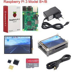 Raspberry Pi 3 Model B+ Starter Kit + 3.5 inch Touchscreen + 16 32GB SD Card + Power Supply + Heatsinks + 9-layer Acrylic Case