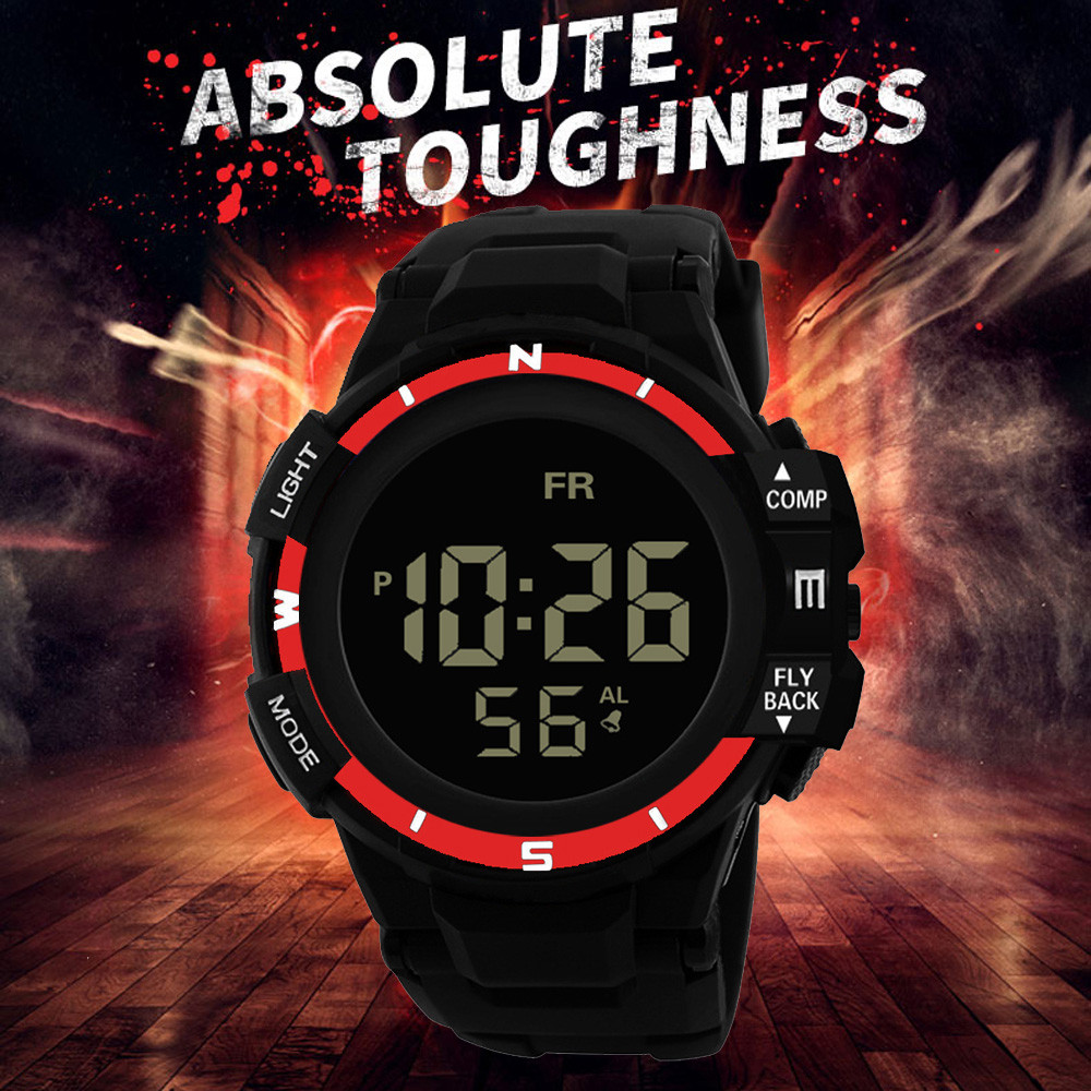 Men's Watch Sports And Leisure Watch Digital Clock Military Silicone Automatic Watch Analog LED Waterproof Wrist Watch H5
