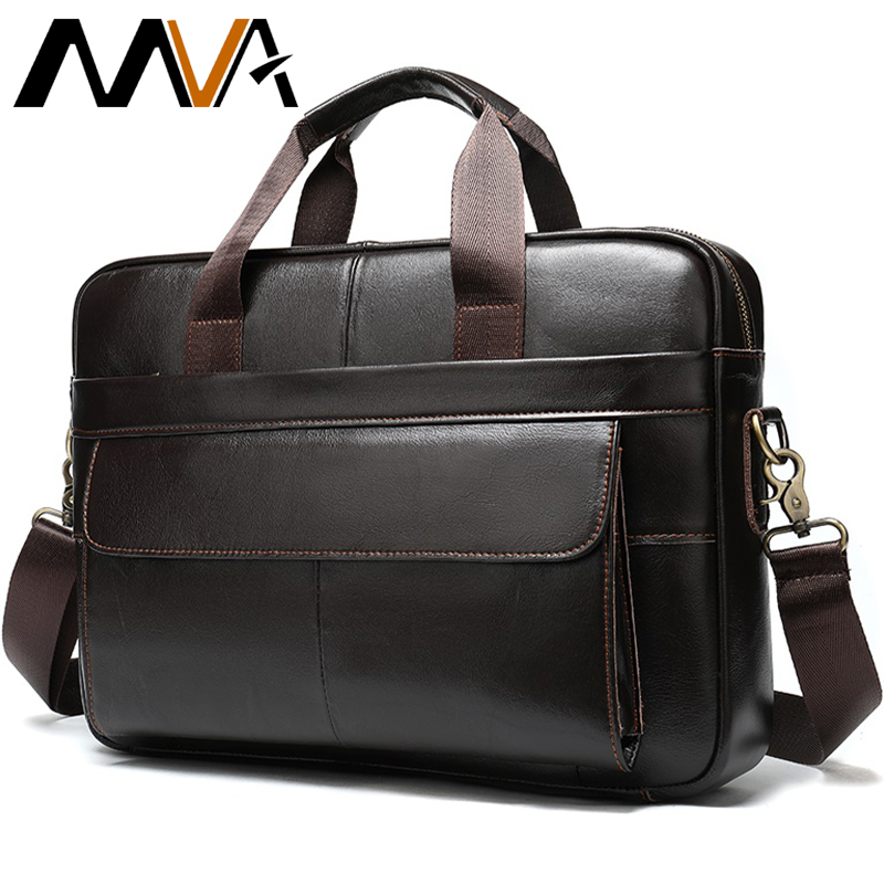 Men's Genuine Leather Briefcase Men Laptop Bag Leather Bag Men Busiess Briefcase Man Computer Bags Mens Breifcases Handbag  1115