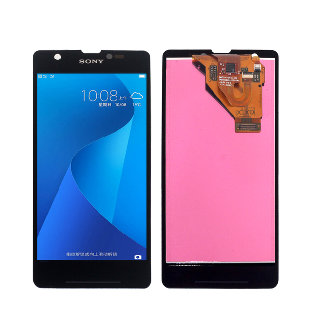 For Sony Xperia ZR M36h C5502 C5503 LCD Display Touch Screen Digitizer Phone Accessories With Free Shipping And Gift Tools
