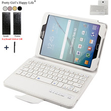 Voor Samsung Galaxy Tab S2 8 ''T710 T715 Draadloze Bluetooth Keyboard Case Voor Samsung Tab S2 8.0 Tablet Flip lederen Cover + Stylus(China)