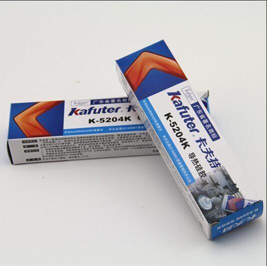 Kafuter 80g k-5204k led wärmeleitenden silikon cpu flächenkleber schnell trocknend thermische kieselsäure härtende koeffizient 1,6