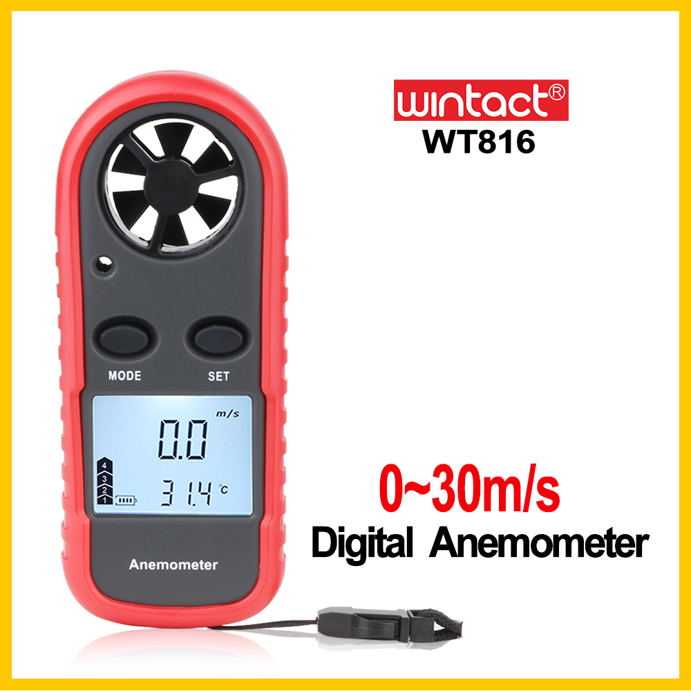 Portable RZ GM816 Wind Speed Meter Used as Anemometer with LCD Display Useful for Windsurfing 17