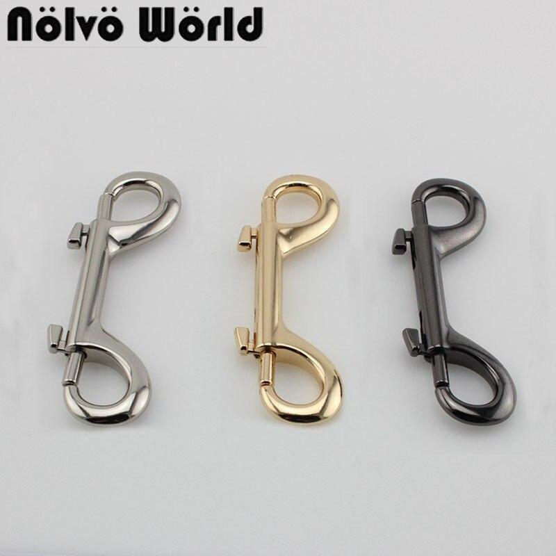 4-30pcs Long Double Ended Snap Hooks Metal Strong Hook 2 Claps Hardware For Handmade Handbag Hanger Swivel Hooks