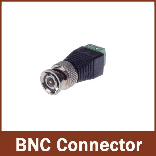10pcs/lot CCTV accessories Coax CAT5 To Camera CCTV BNC Video Balun Connector wsfs hot 5pcs coax cat5 to cctv coaxial camera bnc male video balun connector