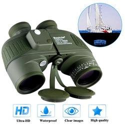 Binoculares militares a prueba de agua Boshile telescopio de la Marina 10x50 con telémetro y brújula lente completamente multicapa