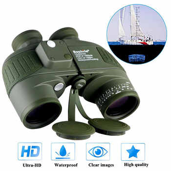 Military Waterproof Binoculars Boshile 10x50 Navy Telescope Binocular with rangefinder and Compass Fully Multi-coated Lens BAK4 - DISCOUNT ITEM  15% OFF All Category