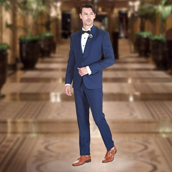 2017 Latest Coat Pant Designs Navy Blue Men Suit Slim Fit 2 Piece Tuxedo Custom Blazer Groom Prom Wedding Suits Terno Masculino