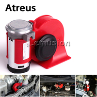 Atreus Car Styling 12V 130db Two Tone Snail Air Horn For BMW e46 e39 e60 e36 Mini cooper Audi a4 b6 a3 a6 c5 b8 b7 Accessories