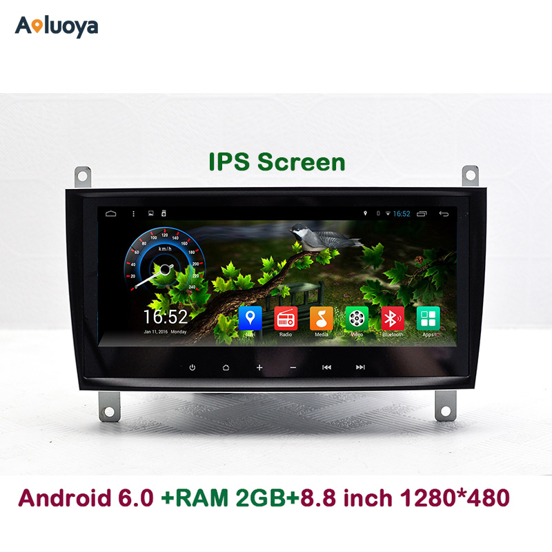 Aoluoya 8.8IPS 2G RAM Android 6.0 CAR DVD GPS Navigation For Mercedes Benz CLK W219 2004-2011 W209 2006-2011 CLS W219 2006-2008