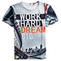Brand 3D T Shirt Men 2015 Fashion Letter Design Mens Fitness Printed Funny T Shirts Casual Men Short Sleeve T Shirt Homme xl